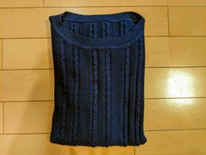 セーターのたたみ方③